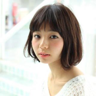 暗髪 大人かわいい パーマ 黒髪 ヘアスタイルや髪型の写真・画像