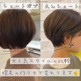 ショートヘア 大人かわいい デート ナチュラル ヘアスタイルや髪型の写真・画像