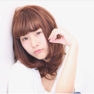 ヘアアレンジ イルミナカラー セミロング フェミニン ヘアスタイルや髪型の写真・画像