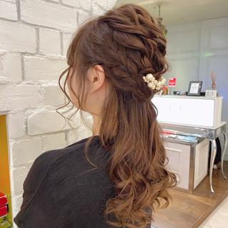 結婚式ヘアアレンジ 大人かわいい ナチュラル デート ヘアスタイルや髪型の写真・画像