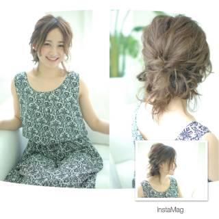 モテ髪 簡単ヘアアレンジ コンサバ アップスタイル ヘアスタイルや髪型の写真・画像
