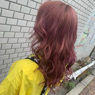 ブリーチ 圧倒的透明感 ピンクアッシュ フェミニン ヘアスタイルや髪型の写真・画像