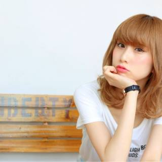 ブラウンベージュ ガーリー おフェロ モテ髪 ヘアスタイルや髪型の写真・画像