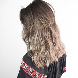 外国人風カラー ストリート スポーツ ミディアム ヘアスタイルや髪型の写真・画像