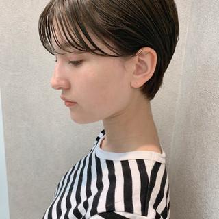 大人女子 オフィス スポーツ ショート ヘアスタイルや髪型の写真・画像