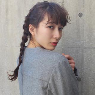 小顔 ニュアンス モード ミルクティー ヘアスタイルや髪型の写真・画像