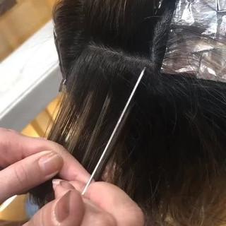 ハイライト ヘアアレンジ ロング モード ヘアスタイルや髪型の写真・画像 ヘアスタイルや髪型の写真・画像