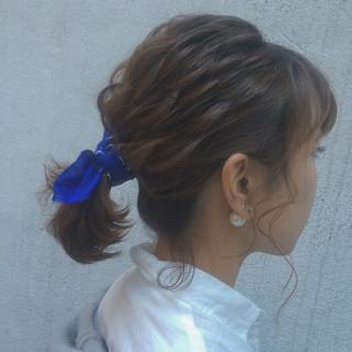 ショート ボブ ナチュラル ヘアアレンジ ヘアスタイルや髪型の写真・画像