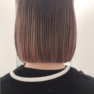ストレート ショートボブ ナチュラル ミニボブ ヘアスタイルや髪型の写真・画像