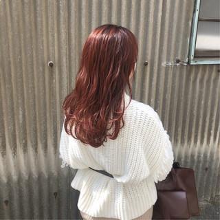 アプリコットオレンジ 春色 春ヘア ベリーピンク ヘアスタイルや髪型の写真・画像