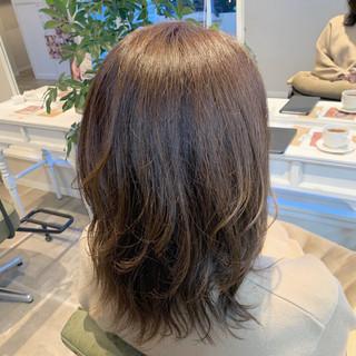 エレガント レイヤーカット ミディアムレイヤー レイヤースタイル ヘアスタイルや髪型の写真・画像