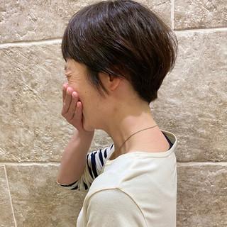 ナチュラル 大人女子 ミニボブ ベリーショート ヘアスタイルや髪型の写真・画像