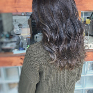 ハイライト 暗髪 アッシュ モード ヘアスタイルや髪型の写真・画像