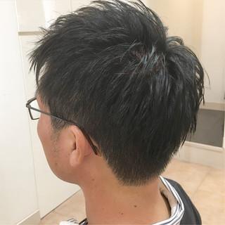 束感 ショート 刈り上げショート メンズカット ヘアスタイルや髪型の写真・画像