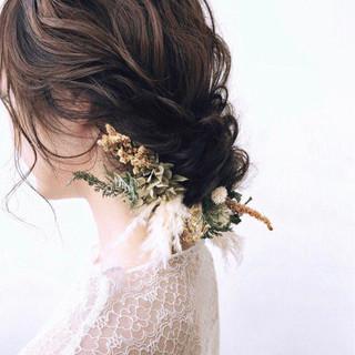 大人女子 ヘアアレンジ アンニュイ ミディアム ヘアスタイルや髪型の写真・画像