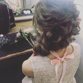 パーティ ゆるふわ フェミニン ロング ヘアスタイルや髪型の写真・画像 ヘアスタイルや髪型の写真・画像