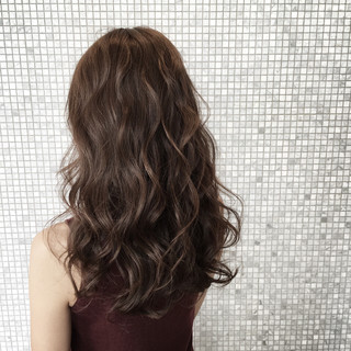 外国人風 ヘアアレンジ アッシュ ロング ヘアスタイルや髪型の写真・画像
