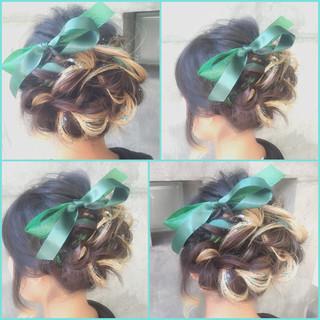 フェミニン ヘアアレンジ ミディアム ゆるふわ ヘアスタイルや髪型の写真・画像 ヘアスタイルや髪型の写真・画像