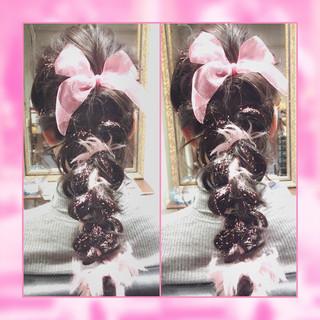 フェミニン ヘアアレンジ ガーリー ゆるふわ ヘアスタイルや髪型の写真・画像