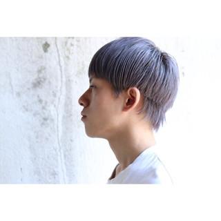 メンズ ダブルカラー ストリート ウルフカット ヘアスタイルや髪型の写真・画像