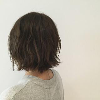 モード 大人女子 切りっぱなし ボブ ヘアスタイルや髪型の写真・画像