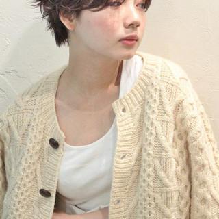 ウェーブ ショートボブ パーマ ストリート ヘアスタイルや髪型の写真・画像
