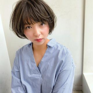 大人女子 ショート 大人かわいい ヘアアレンジ ヘアスタイルや髪型の写真・画像