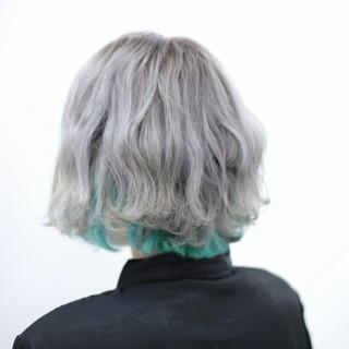 ハイトーン ストリート ブリーチ インナーカラー ヘアスタイルや髪型の写真・画像