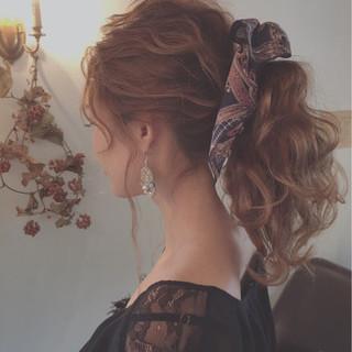 簡単ヘアアレンジ ショート セミロング 外国人風 ヘアスタイルや髪型の写真・画像