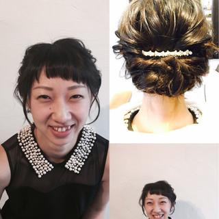愛され 簡単ヘアアレンジ 結婚式 前髪あり ヘアスタイルや髪型の写真・画像