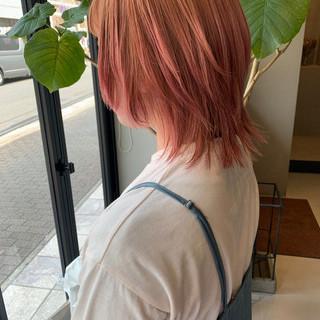 ウルフカット ストリート ショートボブ ミディアム ヘアスタイルや髪型の写真・画像