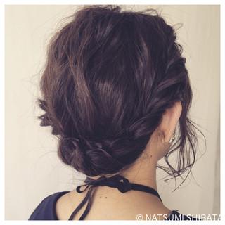 ヘアアレンジ ギブソンタック 簡単ヘアアレンジ パーティ ヘアスタイルや髪型の写真・画像