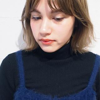 ハイライト ウェットヘア 外国人風カラー ナチュラル ヘアスタイルや髪型の写真・画像