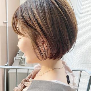 ナチュラル ショート ショートボブ 大人かわいい ヘアスタイルや髪型の写真・画像