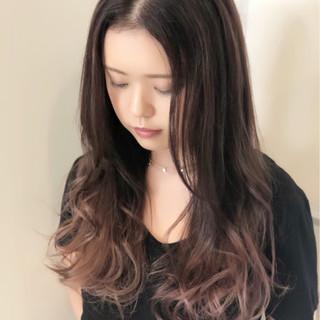 ハイライト バレイヤージュ 外国人風カラー ロング ヘアスタイルや髪型の写真・画像