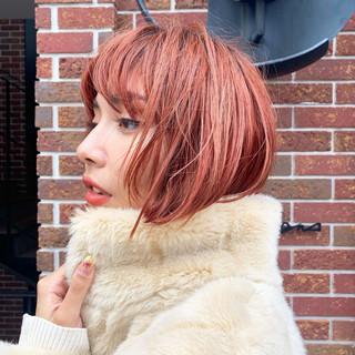 ナチュラル ヘアアレンジ ボブ ボブヘアー ヘアスタイルや髪型の写真・画像