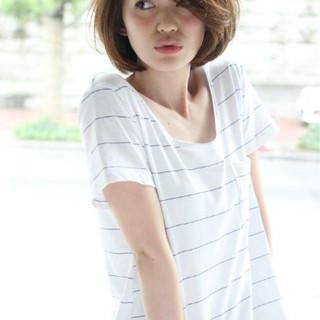 大人かわいい ショート 外国人風カラー ストリート ヘアスタイルや髪型の写真・画像 ヘアスタイルや髪型の写真・画像
