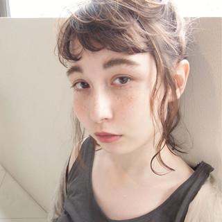 簡単ヘアアレンジ 外国人風 くせ毛風 大人かわいい ヘアスタイルや髪型の写真・画像