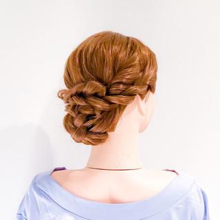 簡単ヘアアレンジ ヘアアレンジ ロング ねじり ヘアスタイルや髪型の写真・画像