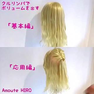 簡単 くるりんぱ 簡単ヘアアレンジ ヘアアレンジ ヘアスタイルや髪型の写真・画像