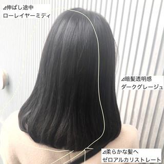 ナチュラル 縮毛矯正 ミディアム 髪質改善 ヘアスタイルや髪型の写真・画像