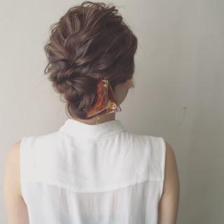 ヘアアレンジ 大人かわいい 夏 ゆるふわ ヘアスタイルや髪型の写真・画像