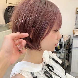 アンニュイほつれヘア ショートボブ ショートヘア 大人かわいい ヘアスタイルや髪型の写真・画像