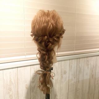 ゆるふわ ヘアアクセ セミロング 簡単ヘアアレンジ ヘアスタイルや髪型の写真・画像