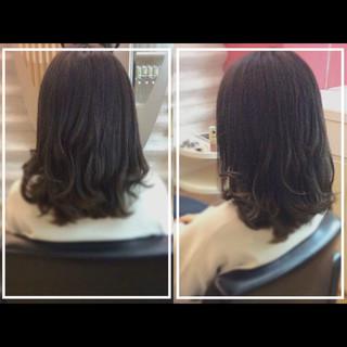 ナチュラル 髪質改善 セミロング 髪質改善トリートメント ヘアスタイルや髪型の写真・画像