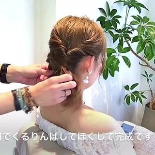 女子会 ナチュラル デート 簡単ヘアアレンジ ヘアスタイルや髪型の写真・画像