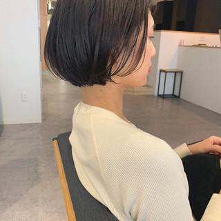 デート ボブ オフィス 大人かわいい ヘアスタイルや髪型の写真・画像