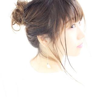 簡単ヘアアレンジ 夏 ヘアアレンジ セミロング ヘアスタイルや髪型の写真・画像