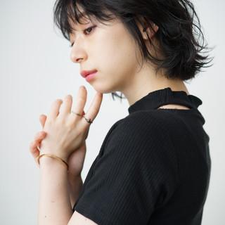 ミニボブ パーマ ナチュラル デジタルパーマ ヘアスタイルや髪型の写真・画像