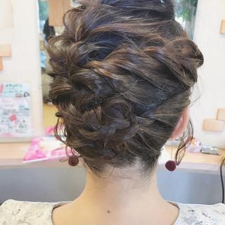 フェミニン 結婚式 編み込み ボブ ヘアスタイルや髪型の写真・画像 ヘアスタイルや髪型の写真・画像